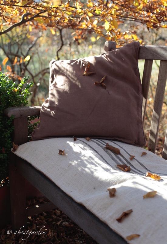 panca con cuscino sac a grain