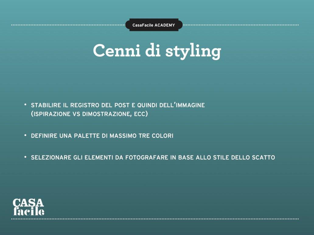 Cenni di styling
