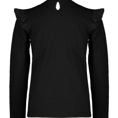 Moodstreet Top with broderie contrast