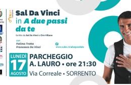 Sal da Vinci in concerto a Sorrento il 17 agosto