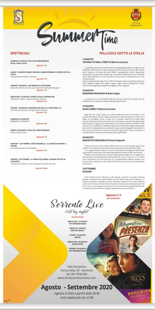 Programma Summer Time Sorrento