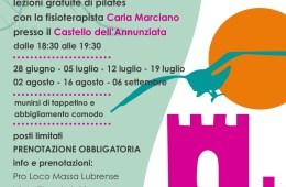 Eventi Massa Lubrense estate 2021 Pilates al castello