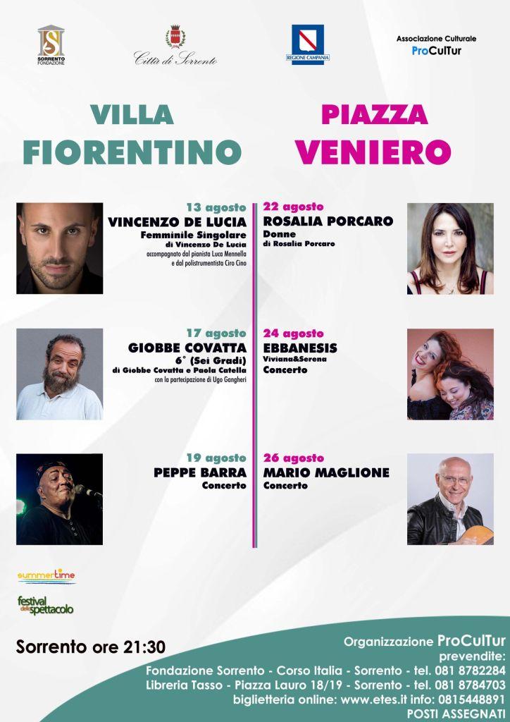 Spettacoli d'autore a Sorrento estate 2021