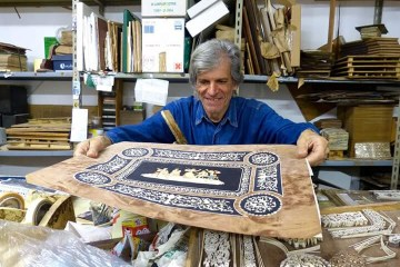 sorrento intarsio legno Pasquale Famiani