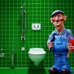 Blocked? Call a plumber. Maybe not this guy.