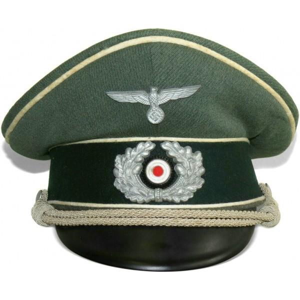 Wehrmacht Heer Infantry Officers Visor Hat Visor Hats