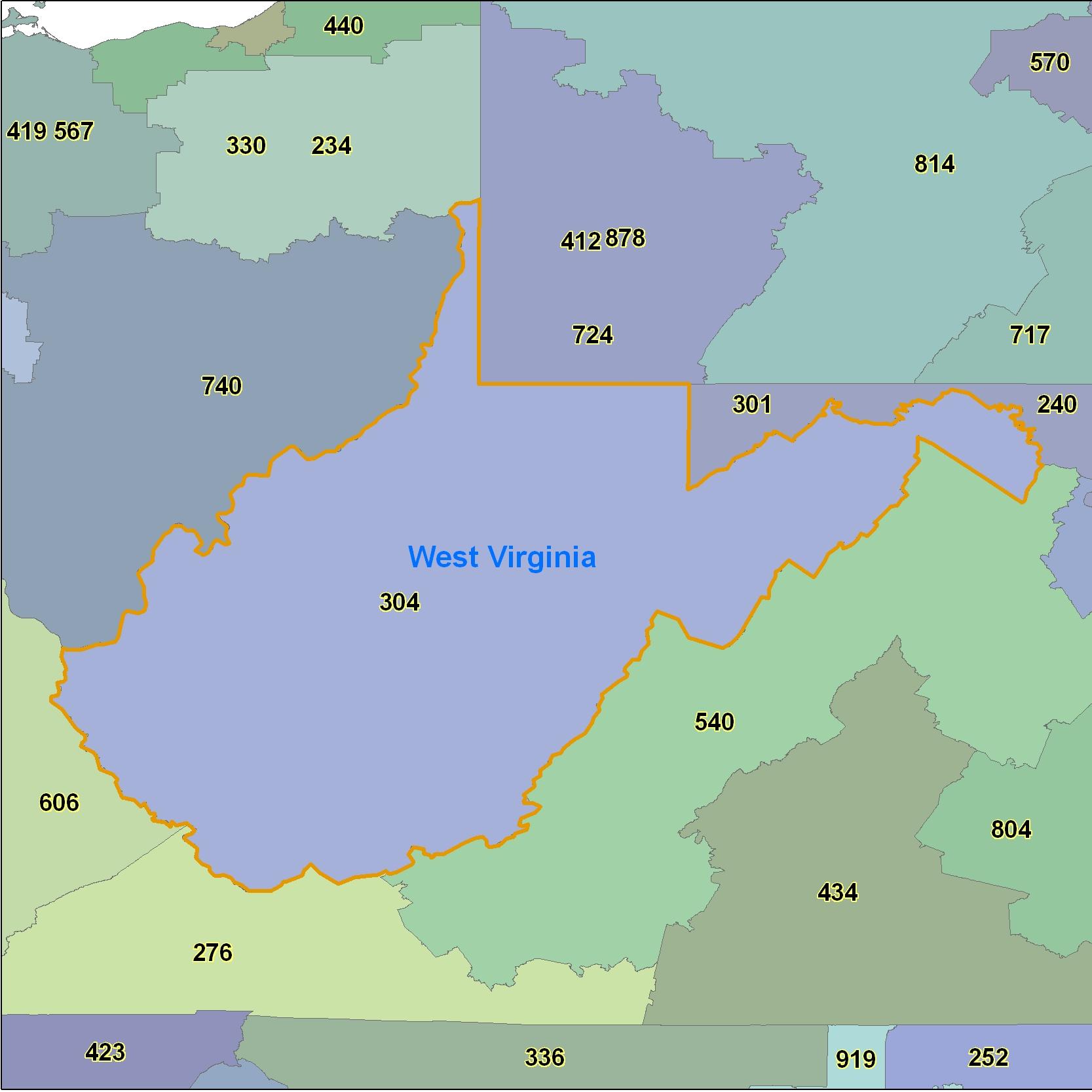 West Virginia Zip Code Map Pdf
