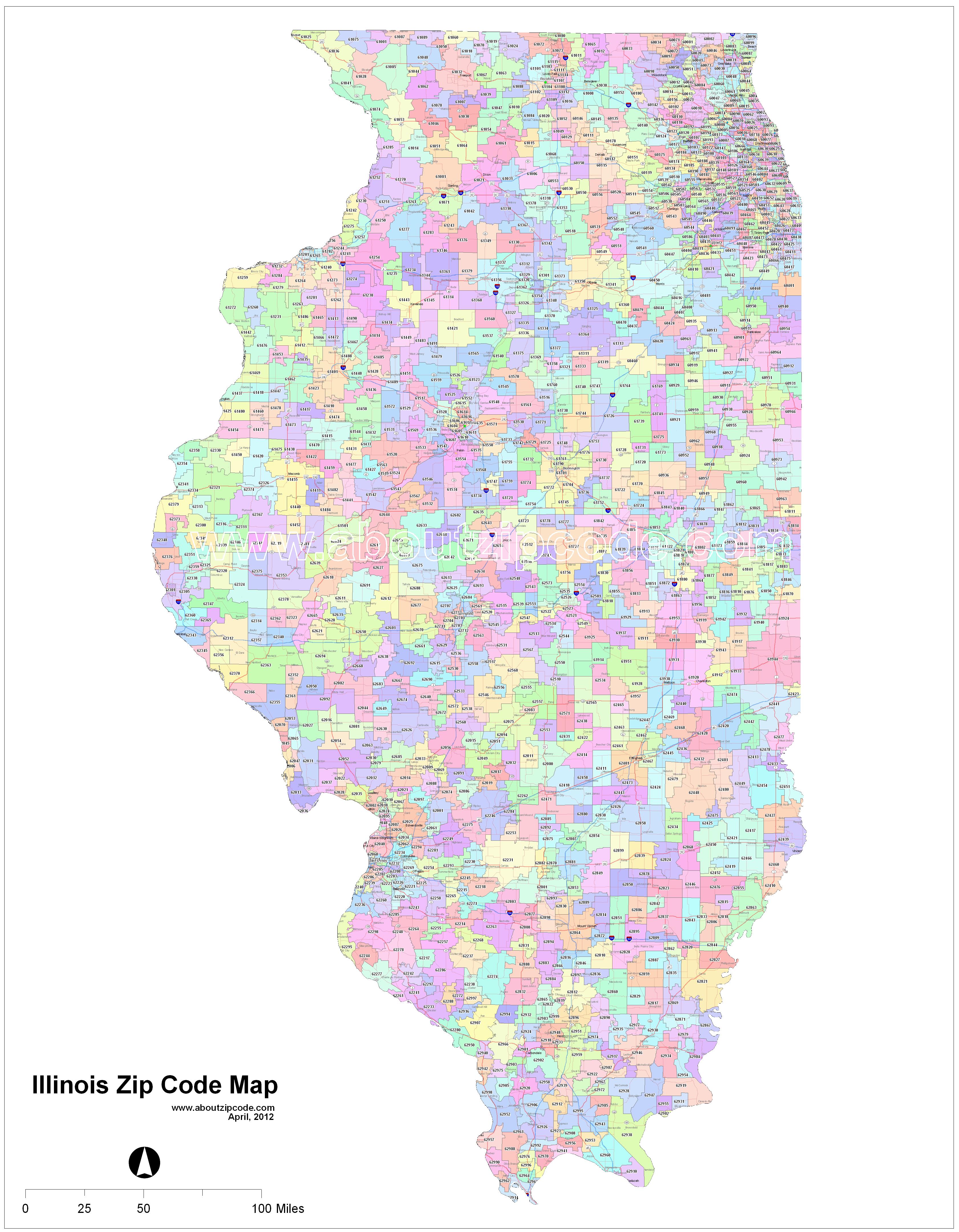 Chicago Il Zip Code Map