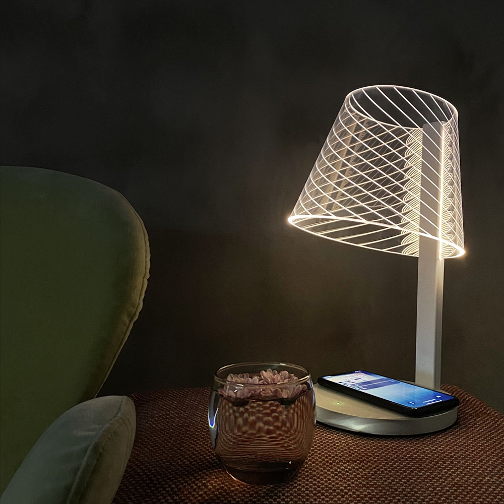 10 Places to use Lamp with Mobile Phone Wireless Charger
