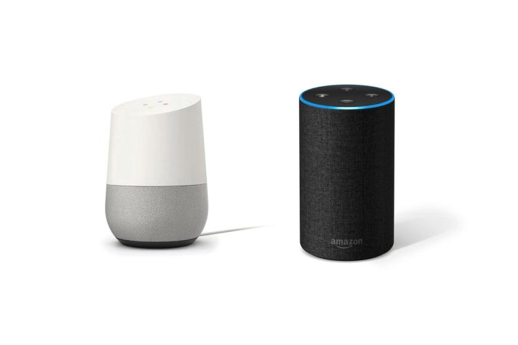 Works with Amazon Echo, Google Home