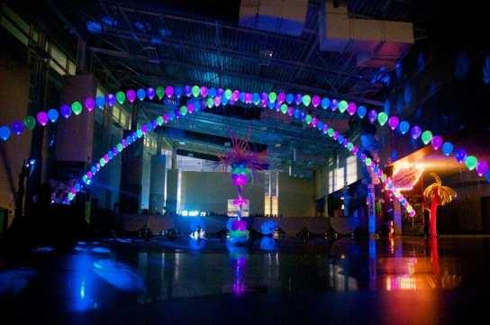 Lit Dance Canopies Delight