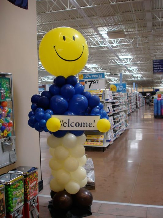 Life-size Balloon buddy brings smiles at the door