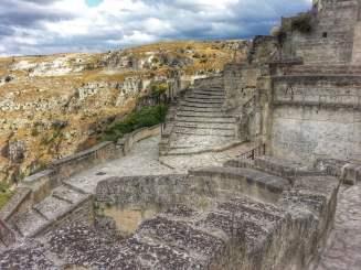 View from Le Grotte della Civita, Matera, Italy