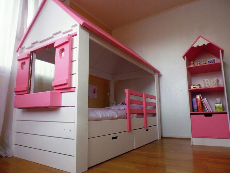 lit cabane fille maison lit