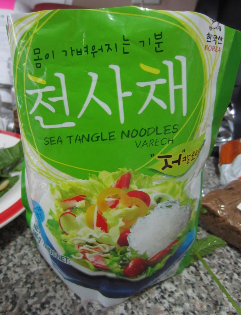Casual kelp noodles
