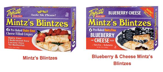 tofutti vegan blintzes