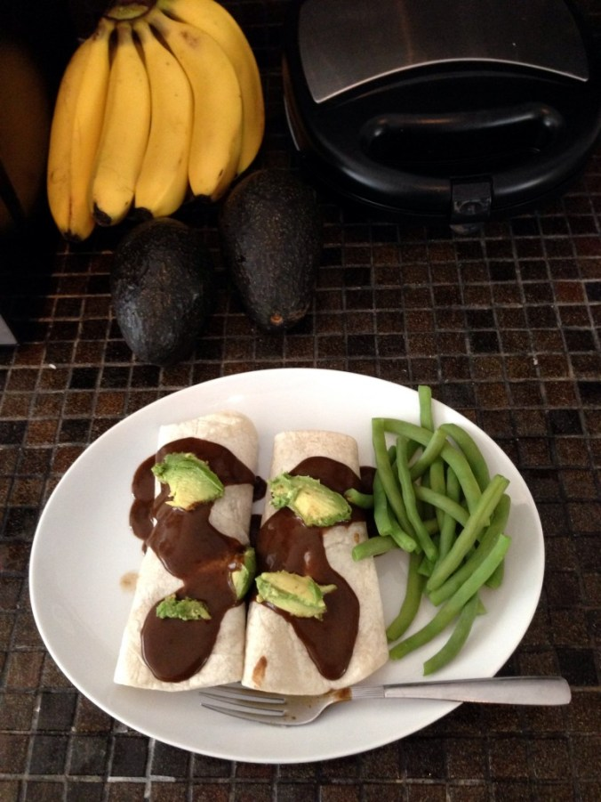 vegan potato enchiladas mole
