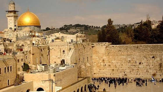 The Crying Wall, the Holiest Place for Jewish