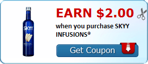 Earn $2.00 when you purchase SKYY INFUSIONS®