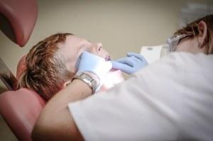 boy in dental operation