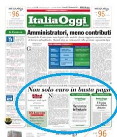 italia oggi non solo euro in busta paga