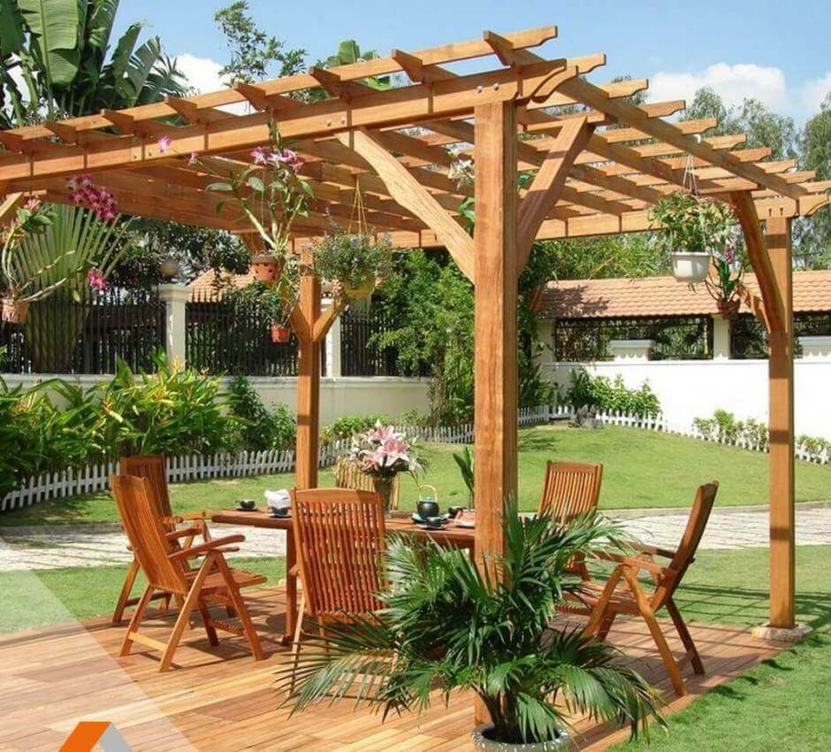 pergola en bois made in france de 9m2 abri jardin bois france. Black Bedroom Furniture Sets. Home Design Ideas