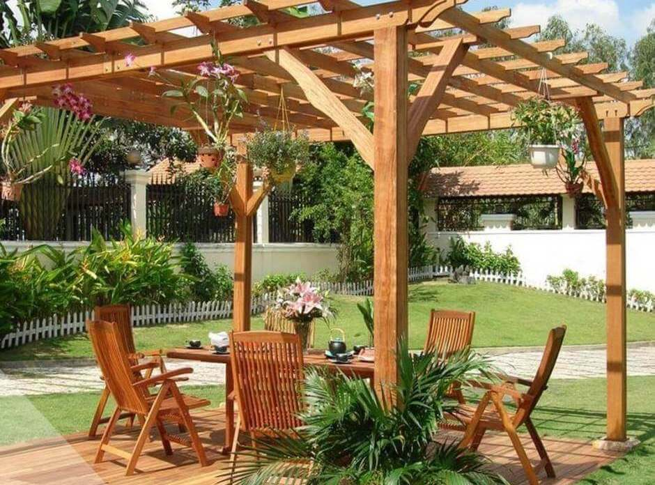 pergola 3x3 avec corbeaux abri jardin bois france. Black Bedroom Furniture Sets. Home Design Ideas