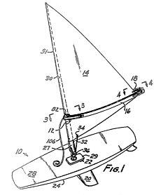 voile de bateau au mètre