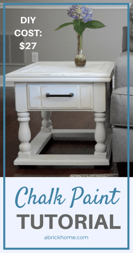 A Brick Home: DIY chalk paint furniture tutorial | This tutorial is so easy and helpful! I can't wait to try it on my end tables.