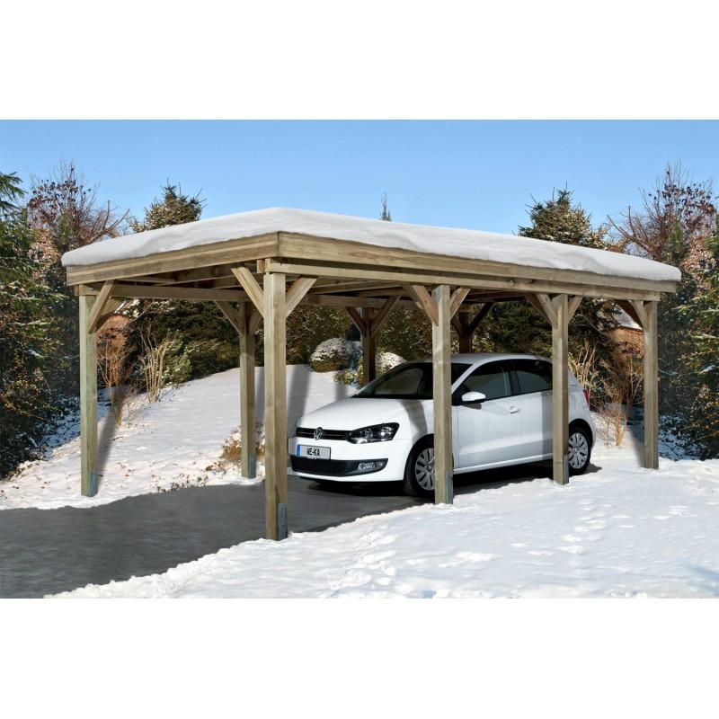 Carport 1 Voiture Weka 609 Abri Voiture 325x622 Cm Resistant Charge De Neige 300 Kp M2