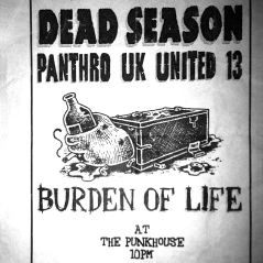 June 26th 1999 at The Punkhouse (Tempa, FL) Dead Season with The National Acrobat, Pathro U.K. United 13 and Burden of Life. Photo courtesy of Casper Adams