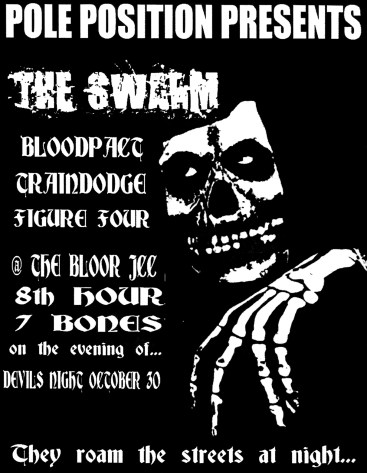 October 30th 1999. The Swarm at The JCC (Jewish Community Centre)/The Bloor Theatre (Toronto, ON). With Traindodge, Bloodpact, Figure Four