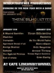 The first Zyphoid Process show on January 11th 2008, at Cafe L'Inconditionnel in Montreal. With A Wasted Sacrifice, Madeline, Terracide, Systematic Denial of All, Avery's Descent, Camalus and End of Crisis.