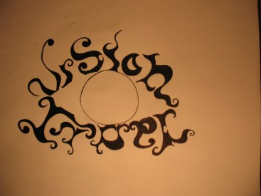 Vision Lunar's second logo drawing by Frederique Rivard.