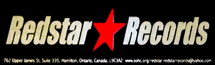 Redstar Records Sticker. Shirts were also made.