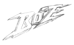 Sketch of an unused Boize logo drawn by , late 1990