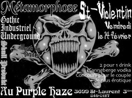 Flyer of Skull Produkt event at the Purple Haze.