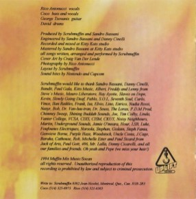 """Stephane Fania was thanked in Scrubmuffin's booklet from the album """"Catatonic Stupor"""", released via Uplift Records in 1994."""