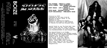 Boize's self-titled compact cassette EP, released April 21, 1992 by U-Iliot Records and Klink Publishing.