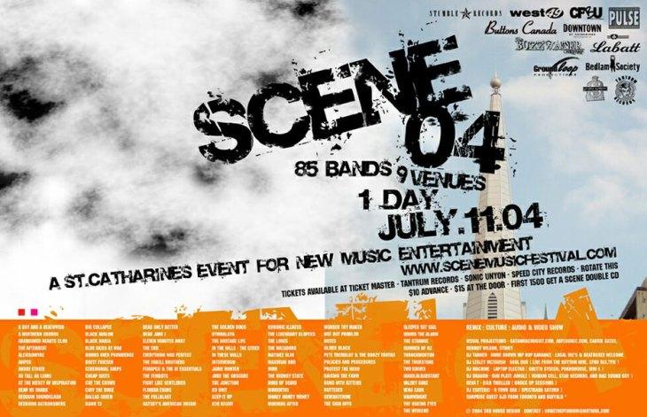 SCENE Music Festival 2004 flyer