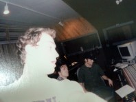 Pete, Steve and Andrew recording at Studio in March 2002