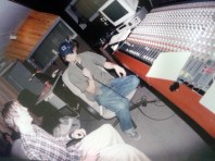 Steve and Andrew recording at Studio in March 2002