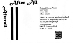 Intention 1 - Afterall demo tape (1995)