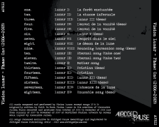 """Vision Lunar """"Phase One (2006-2009)"""" reissue, Abridged Pause Recordings (APR12), August 29th 2015. Back cover."""