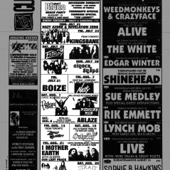Flyer from the Montreal Mirror magazine for Boize's show at the Backstreet, Montreal, Canada on July 31st 1992.