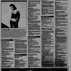 Listing from the Montreal Mirror magazine for Boize's show at the Backstreet, Montreal, Canada on July 31st 1992.