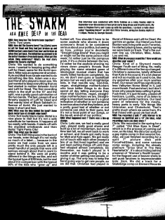 Maximum Rock N Roll Issue #199, December 1999. The Swarm article, page 1