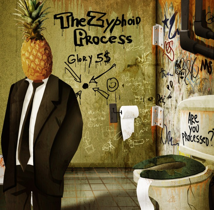 "The Zyphoid Process demo/EP ""Are You Processed?"". Artwork by Nicolas Kudeljian"