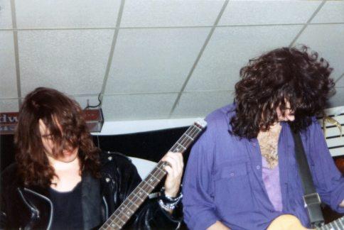 Boize performing live at Sam's Rock Bar, Saint-Leonard, Quebec, Canada on December 23rd 1990.