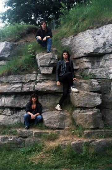 Boize's first promotional photo shoot, shot by Johanne in July of 1989 at the Laval Nature Cantre, Laval, Canada.
